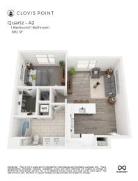 Quartz Floor Plan at Clovis Point, Colorado