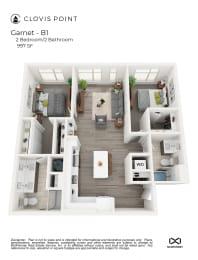 Garnet Floor Plan at Clovis Point, Longmont, Colorado