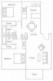 Mariner Floor Plan at Larkspur, Larkspur