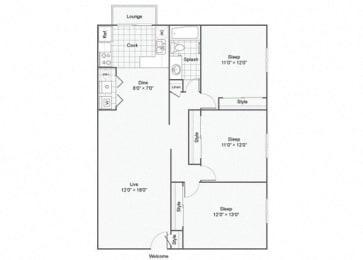 3 Bed 1 Bath Duplex