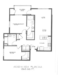 Two Bedroom at StonePointe, University Place, WA, 98466