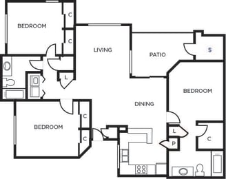 District three bedroom two bathrooms  at Tempe Station, Tempe, Arizona