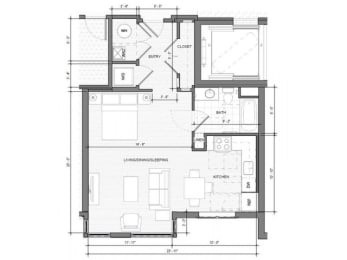 Studio B Floor Plan| Merc