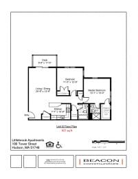 2 bedroom apartment Hudson, MA