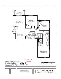 3 bedroom apartment Hudson, MA