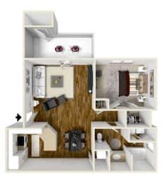 Floor Plan One Bedroom, opens a dialog