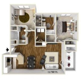 Floor Plan Two Bedroom, opens a dialog