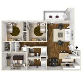 Floor Plan Three Bedroom, opens a dialog