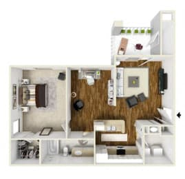 Floor Plan One Bed With Study