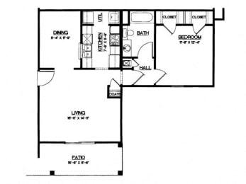Floor Plan 1 Bedroom (phase 1)