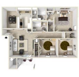 Floor Plan 3 Bedroom (phase 1)