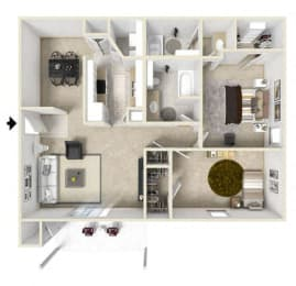 Floor Plan 2 Bedroom (phase 2)
