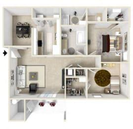 Floor Plan 2 Bedroom (phase 1)