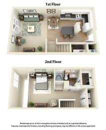 Floor Plan A3 1 Bedroom 1 Bath