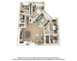 Floor Plan C2 3 Bedroom 2 Bath