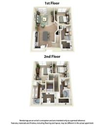 Floor Plan C3 3 Bedroom 3 Bath
