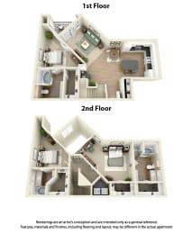Floor Plan C4 3 Bedroom 3 Bath