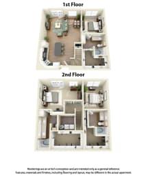 Floor Plan C5 3 Bedroom 3 Bath