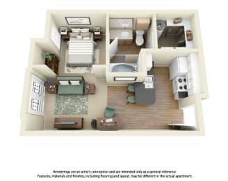 Floor Plan E1 Studio