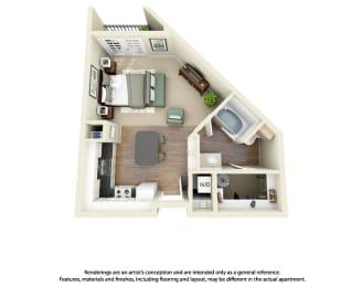 Floor Plan E3 Studio