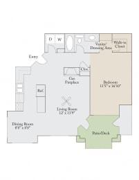 Floor plan at Cambridge Apartments, Raleigh,North Carolina
