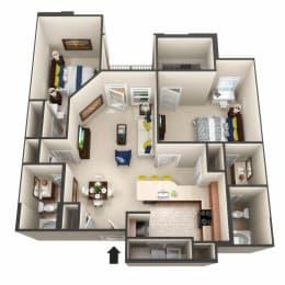 The Catalan 3D Floor Plan Image