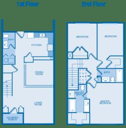 3 Bedroom, 2.5 Bath Large Floor Plan at Orchard Hills, Jeffersonville, IN