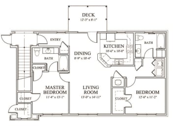 Floor Plan at The Enclave at Pamalee Square Apartments