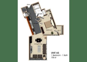 Floor plan at Aurora, Maryland