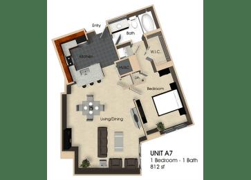 Floor plan at Aurora, North Bethesda, MD,20852, opens a dialog