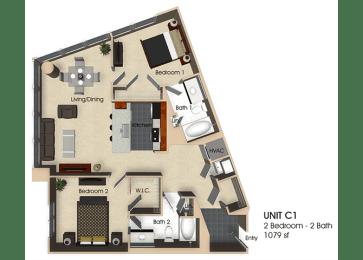 Floor plan at Aurora, North Bethesda, 20852, opens a dialog