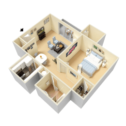 Lynn Floor Plan at Clarion Crossing Apartments in West Raleigh NC