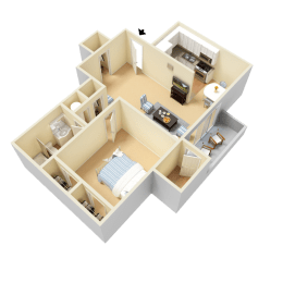 Kaplan Floor Plan at Clarion Crossing Apartments in West Raleigh NC