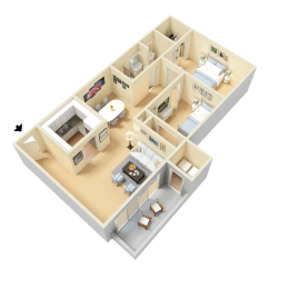 Fletcher Floor Plan at Clarion Crossing Apartments in West Raleigh NC