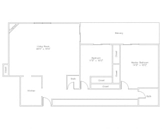 2 Bed Apt in State College