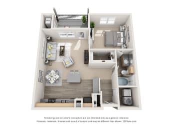 Floor Plan Panache with 1 Car Garage