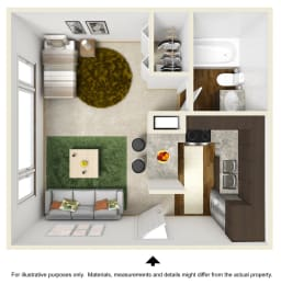 Capris Falls Floor Plan at The Falls Apartments in Raleigh NC, opens a dialog