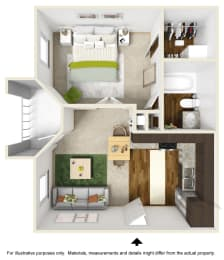 Emerald Falls Floor Plan at The Falls Apartments in Raleigh NC, opens a dialog