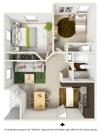 Sierra Falls Floor Plan at The Falls Apartments in Raleigh NC, opens a dialog