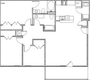 Floor Plan Three Bedroom Two Baths