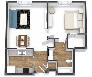One Bedroom at Gramercy on Garfield, Cincinnati, OH, 45202