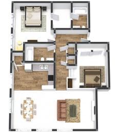 Two Bedroom Corner Vista Plus