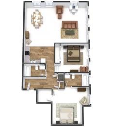 Two Bedroom Flat Plus