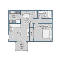 Standard Floor Plan at Sterling Bluff Apartments