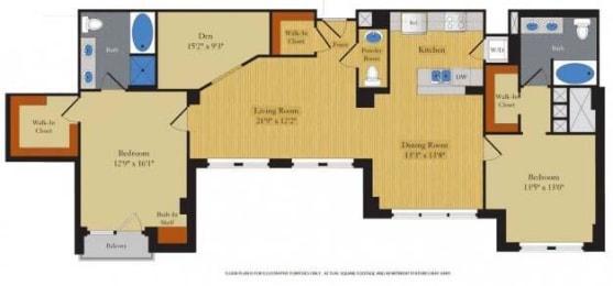 Floorplan at Halstead Tower by Windsor, 4380 King Street, Alexandria, VA 22302