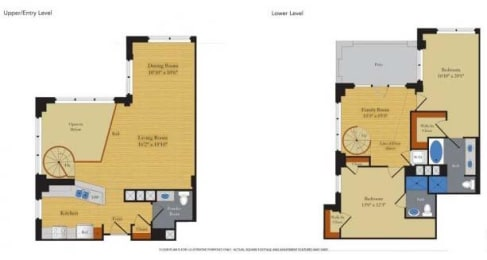Floorplan at Halstead Tower by Windsor, 4380 King Street, Alexandria, VA 22302