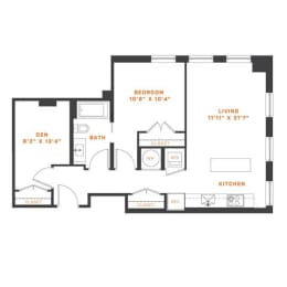 Floor Plan AD1 Den