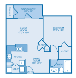 Avalon Floor Plan at Ethan Pointe Apartments, Burlington, North Carolina