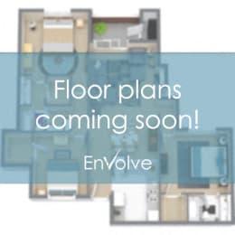 Floor Plan 1BR, 1BA