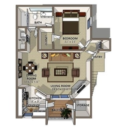 The Jasmine Floor Plan at Sawgrass Apartments in Orlando FL, opens a dialog